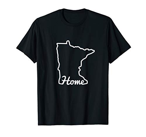 Minnesota Home MN State Map Native Minnesotan T-Shirt