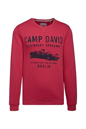 Camp David Herren Sweatshirt mit Used Print