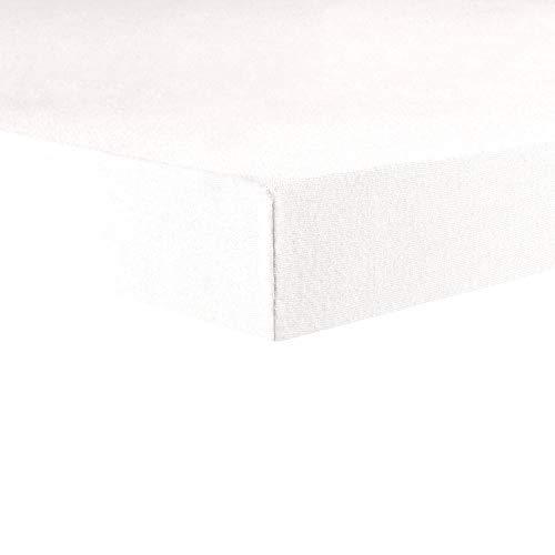 CelinaTex Lucina Topper Spannbettlaken 180x200-200x200 Schnee weiß Baumwolle Spannbetttuch