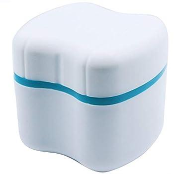 Strong Denture Case Upgraded Dentures Box Denture Brush Retainer Case Denture Cups Bath Dentures Container with Basket Denture Holder Retainer Cleaning Case Perfect To Safe Guard Dentures