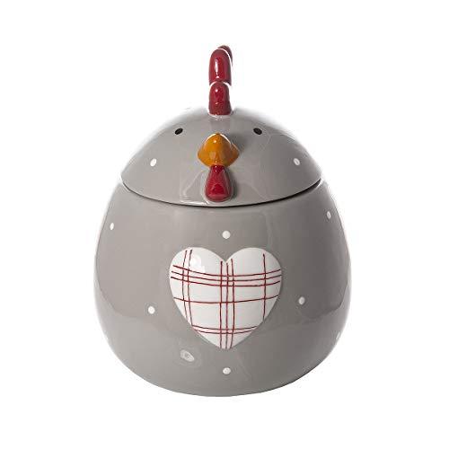 Gran Tarro de Ceramica, Bote para Galletas con Tapa y Forma de Gallina, Decorativa para Cocina, Regalo para Amantes de los Animales