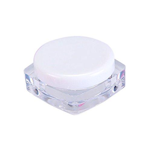 TININNA 25 Pcs 5ml 5 Gramme Pot Contenant en Plastique Vides Boîte Cosmétiquqe Maquillage Stockage Containers Jars pr Fard à Paupières Poudre Crèmes Blanc