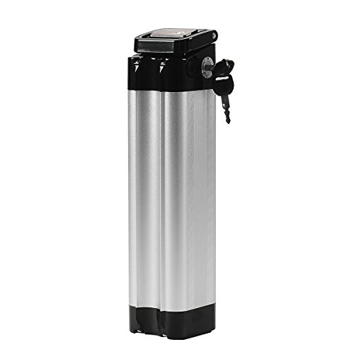 SEASON Ebike Akku 24V 15Ah Li-ion Akku Sitzrohr Batterie in Silber mit Ladegerät für u.a. Trio Phylion MiFa Rex Prophete