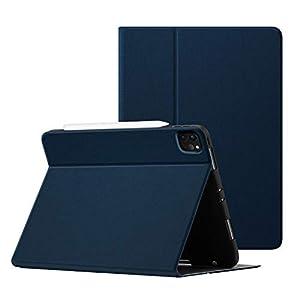 OLAIKE Soft TPU Contraportada para iPad Pro 11 Estuche de 2da generación 2020 y 2018 con Soporte para lápiz: Compatible con Pencil 2 Carga inalámbrica, Auto Sleep / Wake, Blue