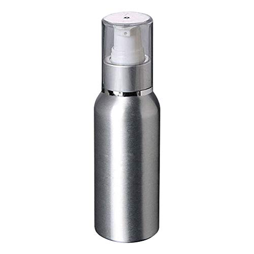 Momangel 30/50/100 ml leere Aluminium-Flasche Lotion Shampoo Lotion Body Wash Presse Spender, aluminium, silber, 100 ml
