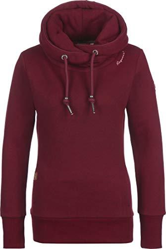 Ragwear GRIPY Bold Damen,Streetwear,Sweatshirt,Kapuzen-Pullover,Hoodie,vegan,hohe Kragen,Tasche,Red,XL
