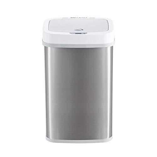 Withou Intelligent Sensor de Basura Desodorante pañal Puede, transformación de desechos de pañal de bebé Puede, de Doble Capa a Prueba de Sabor de Almacenamiento del Cubo for Uso doméstico, Adecuado