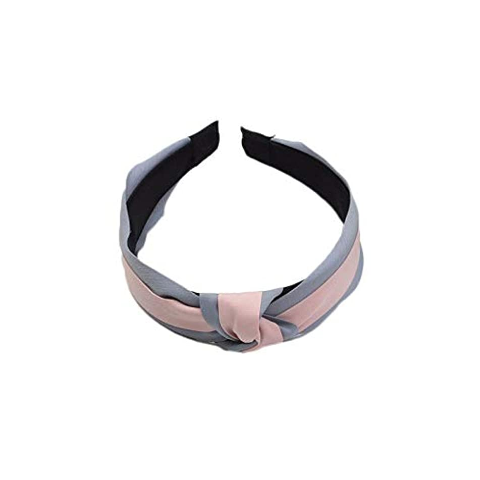 Women Sweet Bowknot Cross Knot Wide Headband Girl Boho Hairband Hair Accessories (Color - Pink A1)