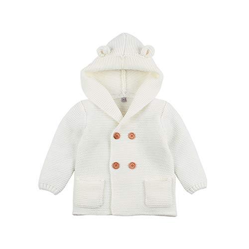 VICROAD - Chaqueta de punto para bebé y niña, con capucha