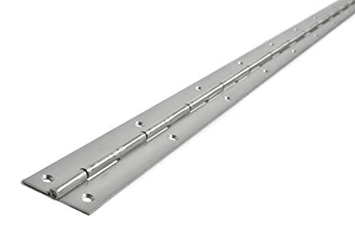 HKB® Edelstahl Stangenscharnier 2000 x 40 x 1,5 mm, V2A nirosta® gelocht, Klavierband, Made in Germany, 7637