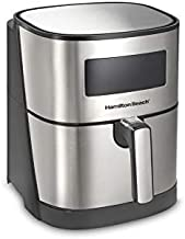 Hamilton Beach 5.3 Quart Digital Air Fryer Oven with 8 Presets, Easy to Clean Nonstick Basket, Black (35075)