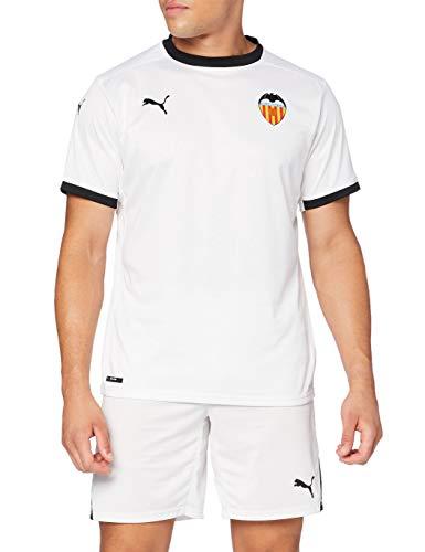 Puma Valencia CF Temporada 2020/21-Home Shirt Replica B Camiseta Primera Equipación, Unisex, White Black, S