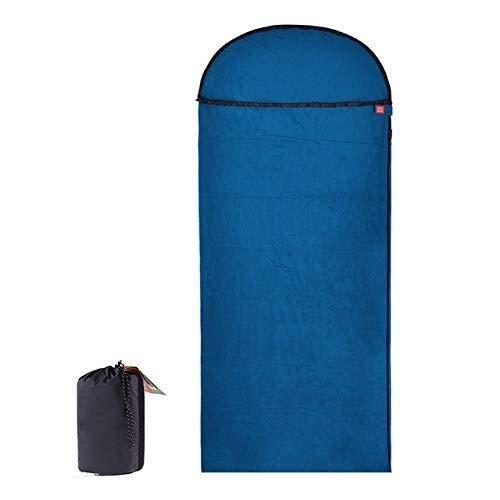 Sacco a pelo Tasca Lunghe Sacchi a Pelo in Pile Ultralight Campeggio Portatile Estivi all'aperto Sacchi a Pelo, Escursioni Busta 215cmx76cm, Colore: Arancione (Color : Blue)