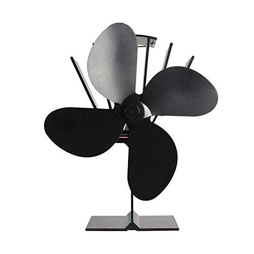 HHuin Ventilador de Chimenea de calefacción eléctrica Ventilador de energía térmica silencioso Respetuoso con el Medio Ambiente Ventilador de refrigeración de Alta Temperatura