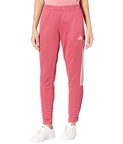 adidas womens Tiro Track Pants-Wild Pink/White Small