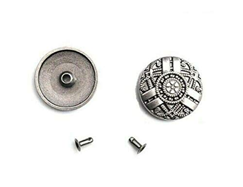Celtic Round Rivet Studs for Leather Crafts 3/4' (20mm) 10 Pieces