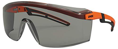 Uvex Arbeitsschutzbrille/Bügelbrille 9164 astrospec 2.0, orange/schwarz, Scheibe: grau, 5-2,5