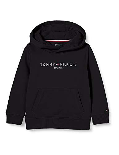 Tommy Hilfiger Jungen Essential Hoodie Pullover, Black, 86
