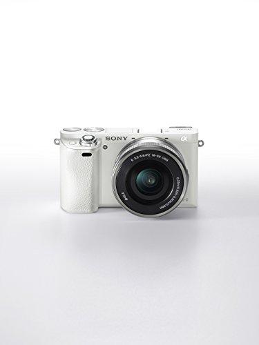 Sony Alpha 6000 Systemkamera (24 Megapixel, 7,6 cm (3 Zoll) LCD Display, Exmor APS-C Sensor, Full HD, High Speed Hybrid AF) weiß