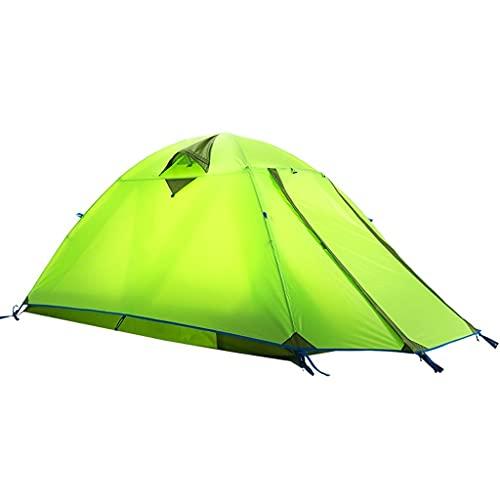 ZHANGCHUNLI Tienda de Campaña Tiendas Portable 1-2 Persona Carpa para Camping Doble Capa Impermeable 4 Temporada Al Aire Libre Ocio Carpa Pareja ,Verde