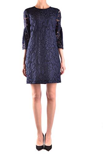 BURBERRY Damen Mcbi33370 Blau Baumwolle Kleid
