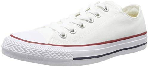 Converse Unisex Chuck Taylor All Star Low Top Optical White Sneakers - 6.5 B(M) US Women / 4.5 D(M) US Men