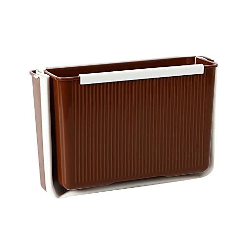 Afvalbak Desktop Bin Slaapkamer Bins Afvalbakken Keuken Slaapkamer Bins Voor Tieners Kleine Bins Voor Badkamer Kleine Bins Vuilnisbak Brown,One Size