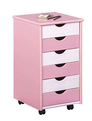INTERLINK ELECTRONICS Rotolo Contenitore Rosa Bianco contenitori o mobili per Bambini Trolley