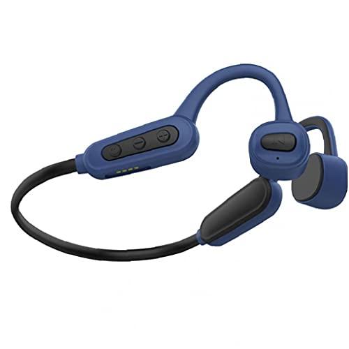 Auriculares inalámbricos, auriculares de conducción ósea auriculares a prueba de agua a prueba de agua inalámbrico con incorporado 16G azul