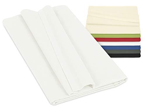 npluseins Laken ohne Gummizug - 100% Baumwolle - ca. 150 x 250 cm 701.887, weiß