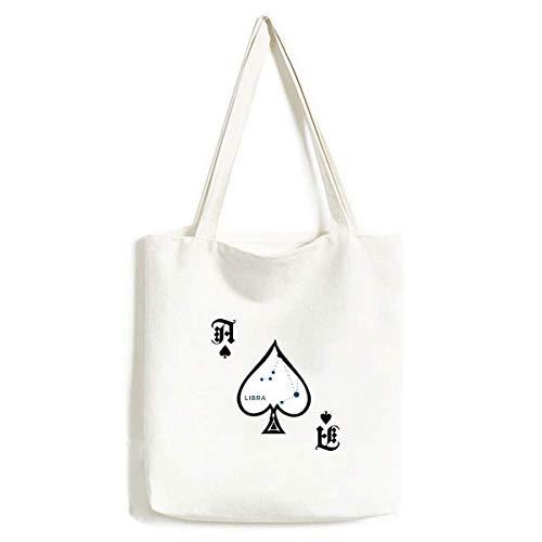 Waage Sternbild Tierkreiszeichen Handtasche Basteln Poker Spaten waschbare Tasche