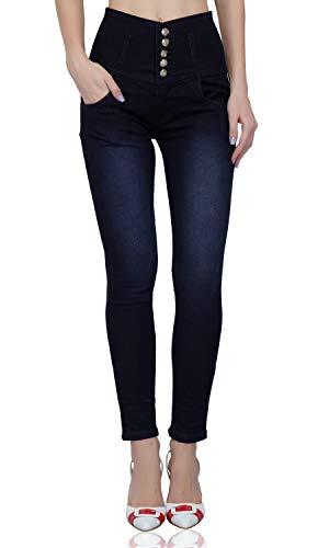 LUXSIS Women's Slim Fit Jeans (L_5B_NavyBlue-32_Blue_32)