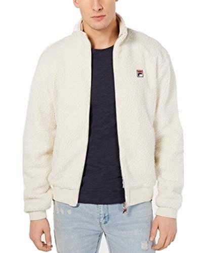 Fila Men's Finch Sherpa Jacket Size L Beige