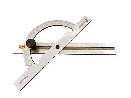 PAULIMOT Winkelmesser/Gradmesser mit verstellbarer Schiene 150 x 300 mm