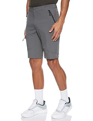 Columbia Triple Canyon S Pantalón Corto con Protección Solar 50, Hombre, Grill, Black, W36/L10