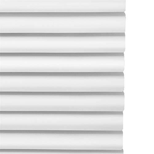 Gordijn van bamboe Persianas Venecianas de Aluminio Persianas Horizontales de Listones con Cable para Oficina en Casa, Blanco, 60/75/90/105/120/135 cm de Ancho (Size : 90x160cm/35×63in)