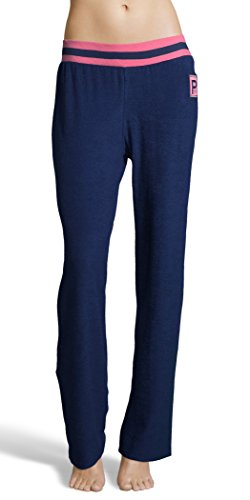 U.S. Polo Assn. Womens Super Soft Casual French Terry Lounge Pajama Sleep Pant Evening Blue Large