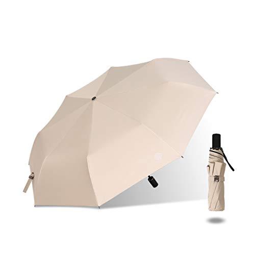 ZhuFengshop Paraplu Mini 3-voudige Paraplu, Afstotende Paraplu's Zonbescherming met Zwarte Lijm Anti UV Coating Reizen Paraplu, Blokkeren UV Draagbaar, Regenbestendig, UV, Zon, Zomer, Buiten