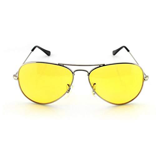 Kinshops Occhiali da Sole Moda Occhiali per la Visione Notturna Gialli Occhiali da Sole Occhiali per la Visione Notturna polarizzati Anti-Fascio Elevato , Giallo