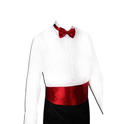 ZYING ZORE Caballero Silida Silida Silv Satin Satin Banda Elástica Tuxedo Cummerbund Modelo de Banquete Comercial Elite (Color : E)