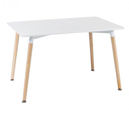 Bois & Design Table rectangulaire Design Moderne Plan en MDF et Pieds en hêtre