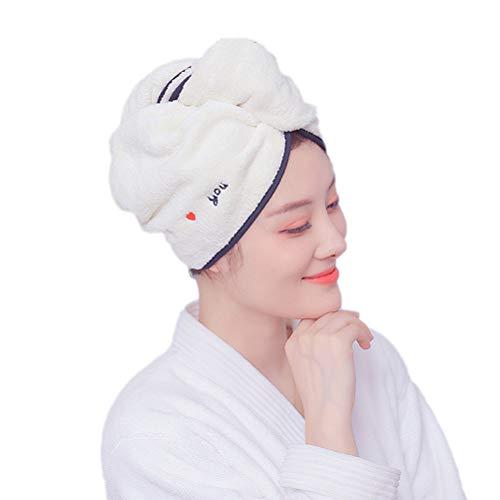 Ibesecc Toalla de microfibra superabsorbente para el pelo suave para adultos, toalla de maquillaje cosmética (65 x 25 cm)