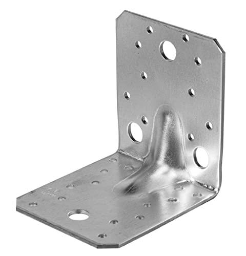 25x Winkelverbinder 90x90x65 105x105x90 mit Steg oder ohne Steg (105x105x90x3,0 mm mit Steg)