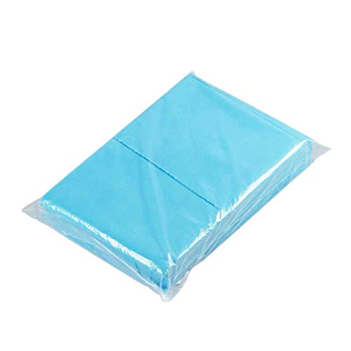 Exceart 10 stücke einweg bettwäsche vlies bettwäsche einweg bettdecke für Krankenhaus spa Hotel Salon (blau)