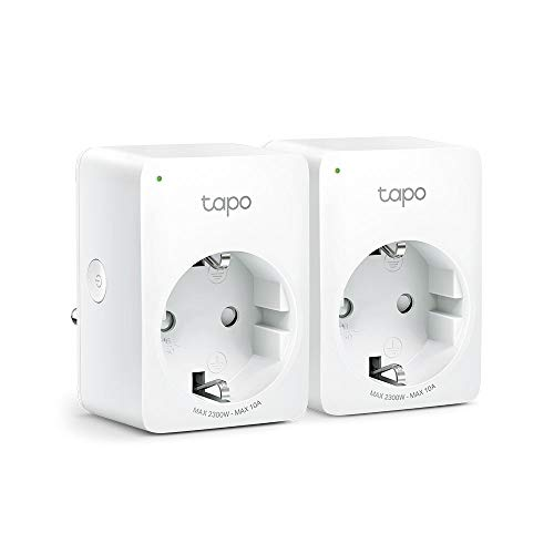 TP-Link Tapo Amazon Alexa Accessory Smart Home WLAN Socket Tapo P100 (EU) (Works Google Home, Remote Access, Timetables, No Hub Required, Tapo App), Tapo P100(2-pack)
