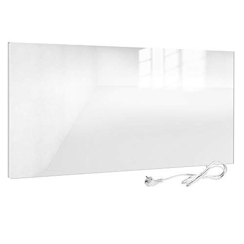 Viesta H580-GW Infrarotheizung Glas 580 W, weiß - Heizpaneel mit höchstem Wirkungsgrad Dank Carbon Crystal Technologie - Flache Glasheizung aus Sicherheitsglas - ELektroheizung mit Überhitzungsschutz