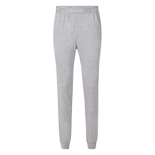 Lacoste Herren 3H9954 Pyjamahose, Männer Pyjama-Unterteil,Schlafanzughose,Jogginghose,Sweatpants,Loungewear,Grau,L