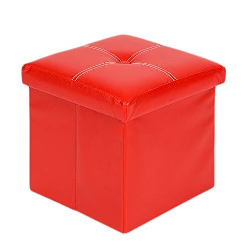 Ottoman Wddwarmhome Boîte de Rangement Pliable en PVC pour tabourets de Rangement en PVC -30 * 30 * 30cm -Poids Maximal 100kg
