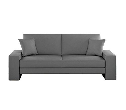 Schlafcouch Schlafsofa - Supra Moderne Sofa mit Schlaffunktion, Lounge Couch, Bettsofa, Materialmix, Couch vom Hersteller, Couchgarnitur (D-4)