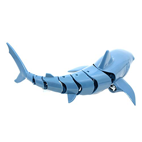 JAWSEU Simulación Aleta de TiburónBarco Boat,Mini RC Water Toy Simulado Shark Fish Toy para niños Underwater Shark Swim Remote Control Toy Shark Water Game Boat Toys,Juguete De Tiburón RC